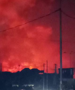 Eruption volcanique à Goma, le Nyiragongo en feu