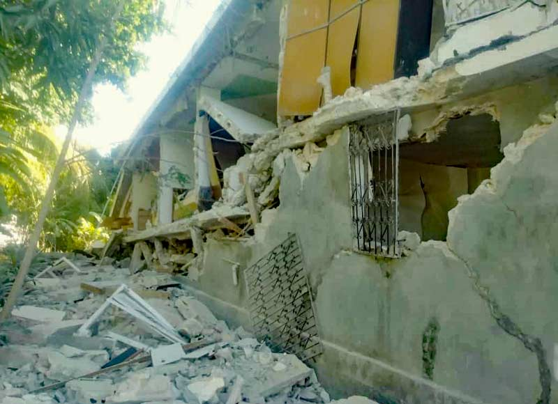 Nombreux dégâts après le séisme du 14 août en Haïti
