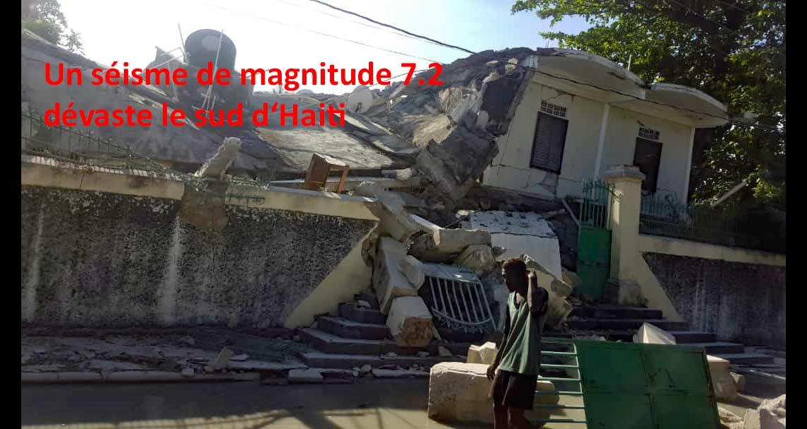 Un nouveau séisme dévaste Haïti