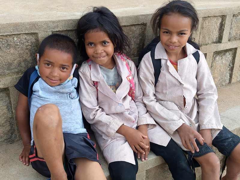 Enfants vulnérables élèves de l'école Akany Aina à Madagasca